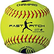 Champro Synthetic USSSA Fast Pitch Ball (Optic Yellow, 11-Inch)
