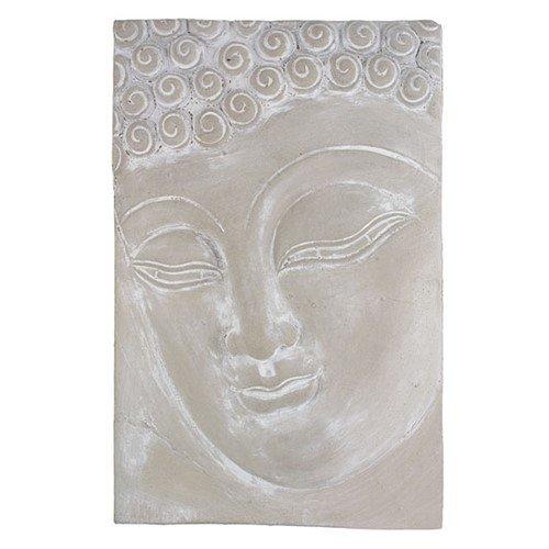 BUDDHA FACE PLAQUE CAST 8.75x13.25