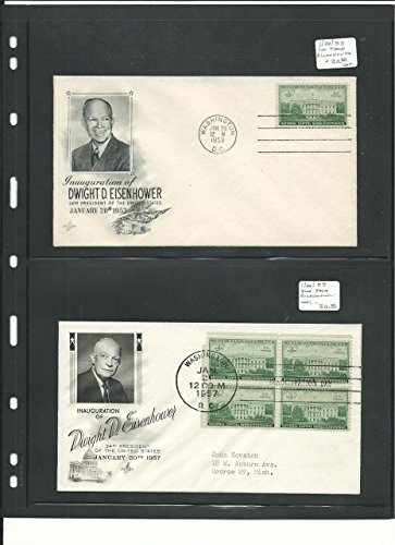 (United States Collection of 4 President Dwight Eisenhower Inauguration Covers)