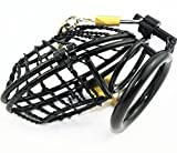 Duzzy Stainless Male Men Padlock Chastity Belt Cage Device Men Bondage Fetish 66 (50mm Ring)