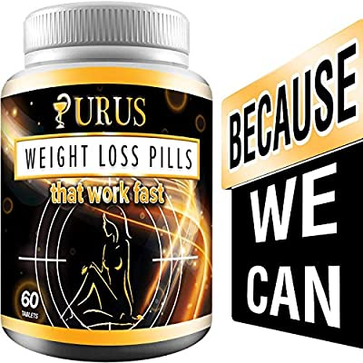Weight Loss Urus Pills - Work Fast for Women and Men, Diet Pills, Fat Burner, Carb Block & Appetite Suppressant