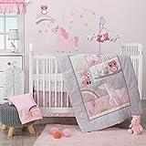 Purple and Gold Bedding Set Bedtime Originals Rainbow Unicorn 3-Piece Crib Bedding Set, Purple