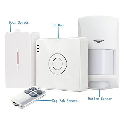 Broadlink S2 Hub Kit Detector de alarma de seguridad 433HMz Sensor de puerta de movimiento de