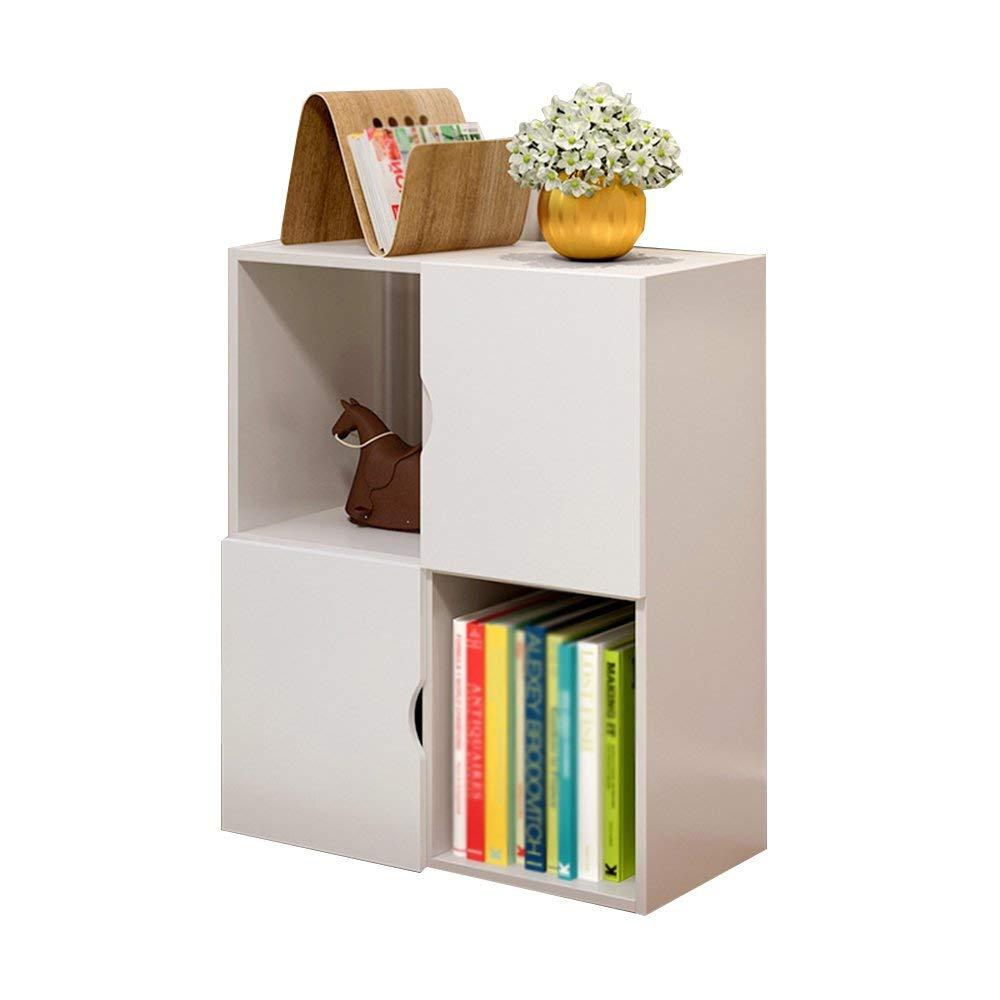 tienda de venta en línea ZHAS Estantería Librería pequeña con gabinetes en la Puerta del del del gabinete, estantería de Almacenamiento, blancoo de pie, 50  24  60 cm  compra en línea hoy
