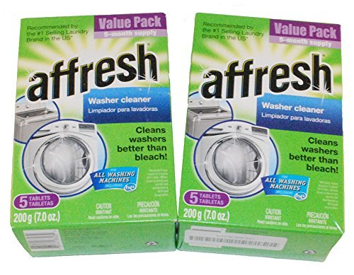 (WHIRLPOOL AFFRESH HIGH EFFICIENCY WASHER CLEANER 10 TABLETS 2 (5 PACK) BOXES)