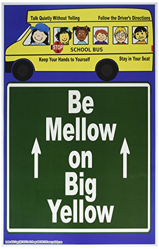 Poster #421 School Bus Classroom Rules for Elementary