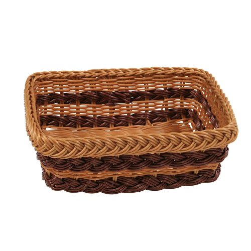 Kesper 17813 Bread and fruit basket rectangular of Plastic, Brown