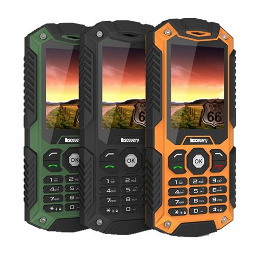 Discovery S6 Rugged Cell Phone - 3000Mah Power-Bank, 4 Modes Tactical Torch light, IP-67 Certified Waterproof Unlocked Cell Phone (Green)