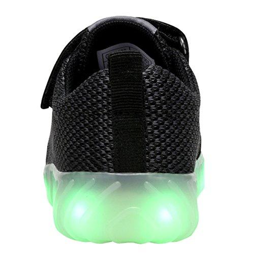 Coodo Kids Jongens Meisjes Led Light Up Shoes Knipperende Sneakers (peuter / Nest Kinderen) 2-zwart