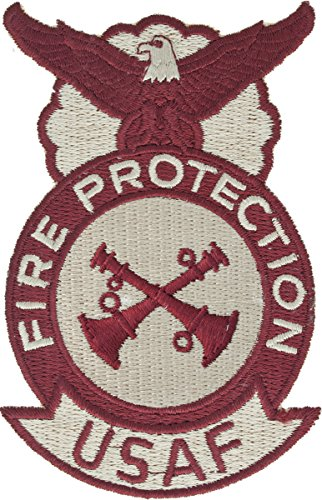 Air Force Fire Protection Desert Patch (Crew Chief, 2 Crossed Bugles)