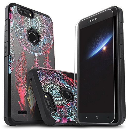 ZTE Blade ZMax Case with [Premium HD Screen Protector Included], Starshop [Shock Absorption] Impact Advanced Protective Phone Cover for ZTE Blade ZMax, ZTE Sequoia (Dream Catcher)
