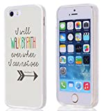 Case for Iphone 5S / SE, iphone SE / 5 Case Christian Quotes Bible Verses 1 Corinthians 5:7 With TPU Sides 360 Degree Protection