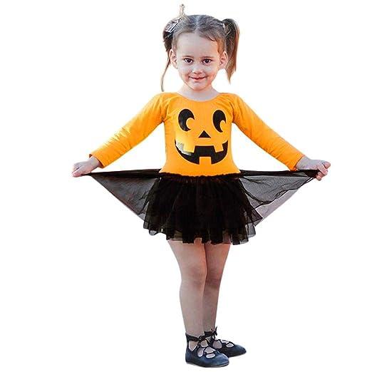 Amazon Com Baby Girl Halloween Dress Fancy Long Sleeve Halloween