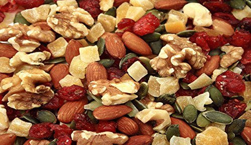 Power Up Trail Mix 100% Natural 8 Snack Bags Protein Packed, Antioxidant Mix, Almond Cranberry Crunch, Mega Omega by Gourmet Nut (Image #2)
