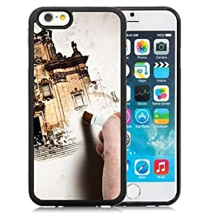 NEW Unique Custom Designed iPhone 6 4.7 Inch TPU Phone Case With Hand Painting Old Building_Black Phone Case