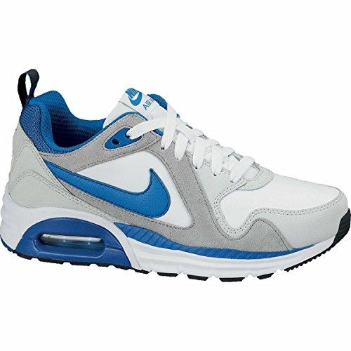 Nike Air Max Trax Sneaker  Big Kid   White Grey Military Blue  6
