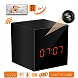Panoraxy Mr Cube Mini WiFi Hidden Camera Clock with Night Vision, 10Mtrs Fluent Detailed Video and Sound Remote Control for iOS and Android Smartphone