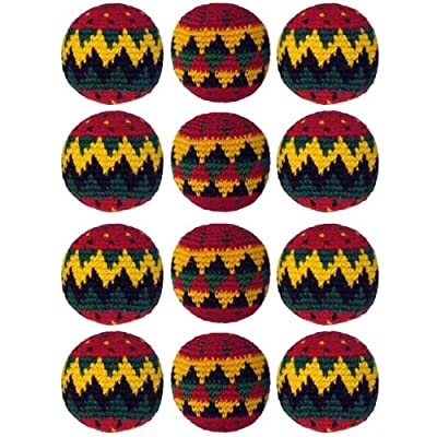 Turtle Island Imports Set of 12 Hacky Sacks - Rasta: Sports & Outdoors