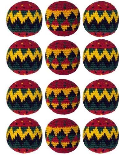 Set of 12 Hacky Sacks - Rasta by Turtle Island Imports