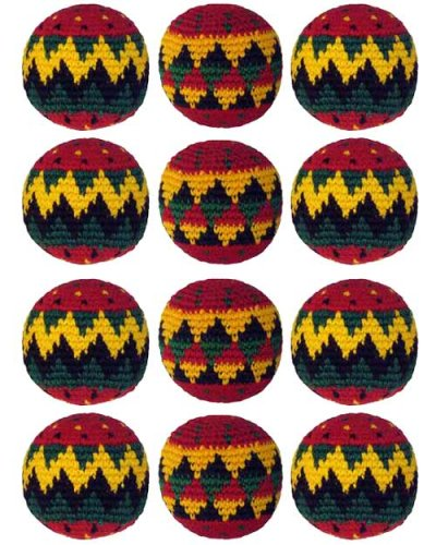 Set of 12 Hacky Sacks - Rasta by Turtle Island Imports