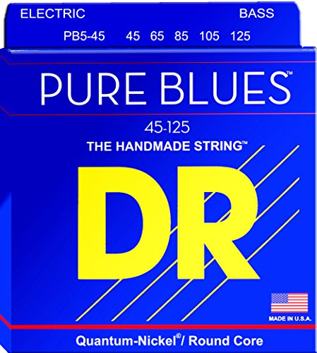 DR Strings PB5-45 Pure Blues Bass Guitar Strings ()