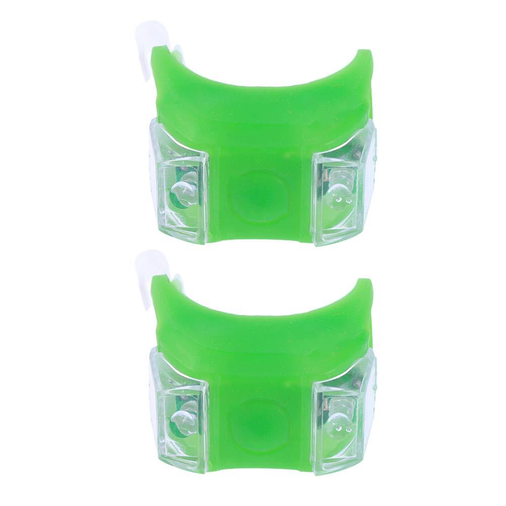 VORCOOL 2PCS Marine LED Feux de Navigation Kayak Feux de Navigation du Bateau Arc poupe sécurité lumières de Secours lumières de Secours (Vert)