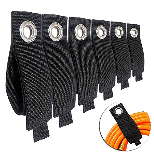 6PCS Upgrade Extension Cord Organizer – Hook and Loop Heavy-Duty Straps, Cord Wrap Keeper, Cable Straps for Cords, Hoses…