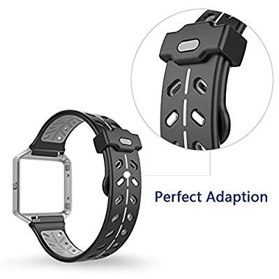 VODKE For Fitbit Blaze Bands Accessory, Silicone Ventilate Replacement Watch Band/Strap/Bracelet/Wristband With Frame For Fitbit Blaze Smart Fitness Watch Men Women
