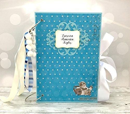 Kristabella Creations 8x11 Baby Scrapbook Album, Baby Memory Book, Baby Shower Gift, 20 interactive inner pages by Kristabella Creations
