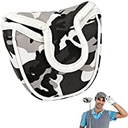 Laelr Golf Putter Cover, Golf Headcover Mallet Putter Cover with Magnetic Closure, Golf Club Head Covers Prote