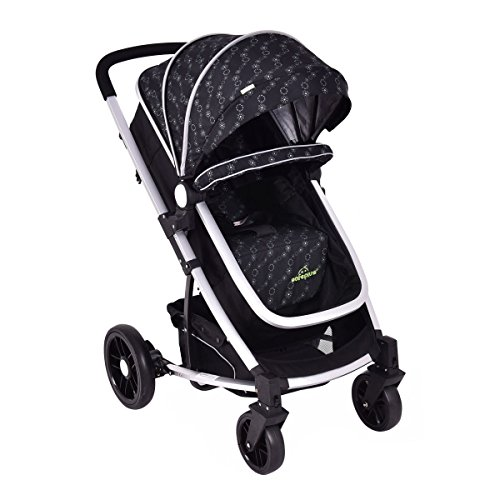 MD Group Baby Stroller 2-In-1 Foldable Aluminum Alloy Black Oxford Switchable Kids Travel by MD Group (Image #2)