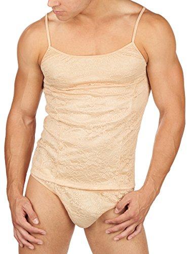 Men's Secret Satin Camisole (Extra Large, Nude)