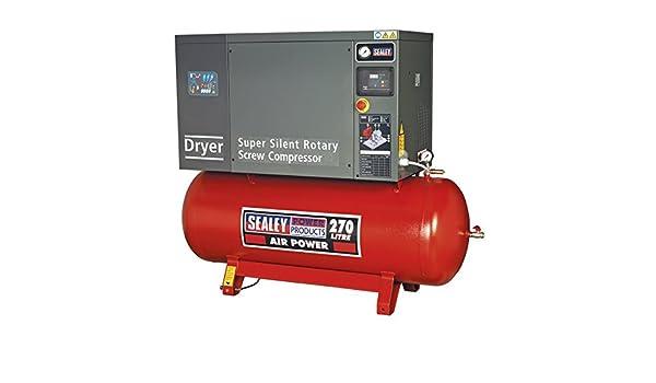 Sealey SSC12710D tornillo compresor con bajo nivel de ruido secador, 10 hp, 3ph, 270 litros: Amazon.es: Bricolaje y herramientas