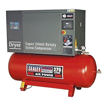Sealey SSC12710D tornillo compresor con bajo nivel de ruido secador, 10 hp, 3ph,