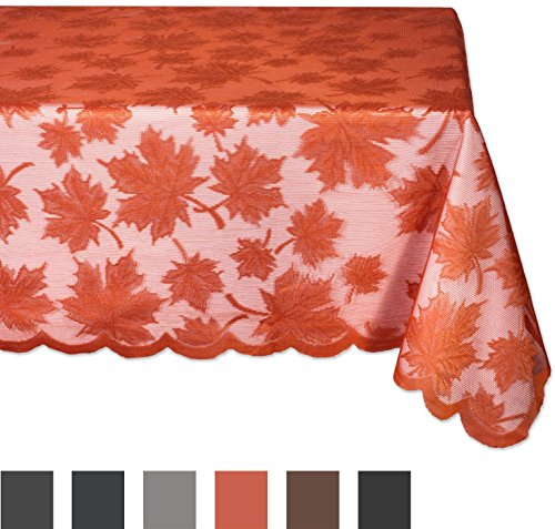 DII Fall/ Thanksgiving Maple Leaf Lace Tablecloth for Parties