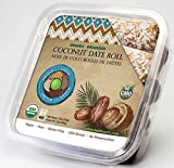 United With Earth Organic Date Coconut Roll, 12-Ounce Container (Pack of 4)