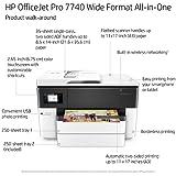 HP G5J38A#B1H OfficeJet Pro 7740 Wide Format All-in-One Printer w/Ink Bundle