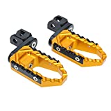Gold CNC 40mm Adjustable Riser Front Touring Foot Pegs For Honda CBR600 F4i FS Sport 2001-2007