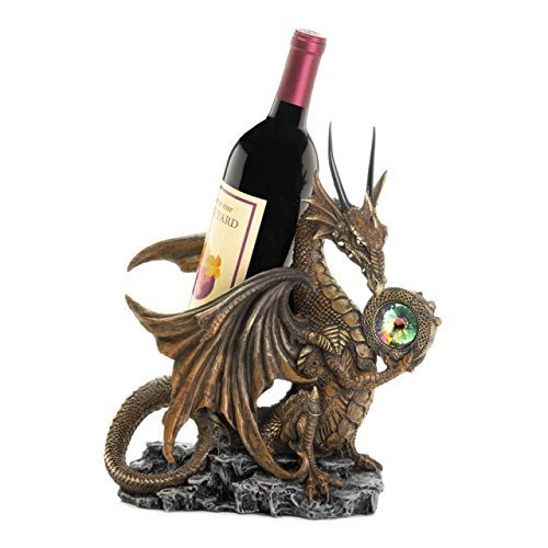Grapes Wine Bottle Tabletop Dragon Holder Unique Rivers Edge Cork Stopper Rack Display Decorative Charm Stand