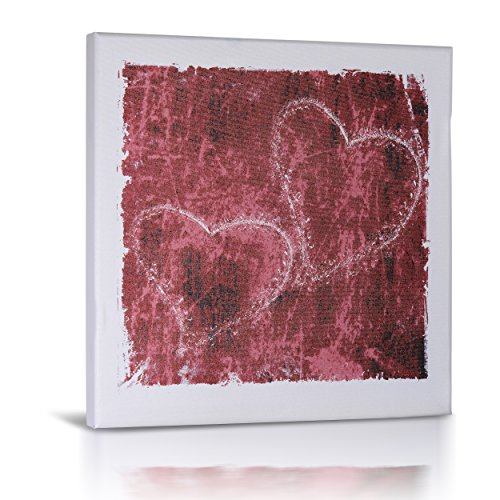 Valentine Heart Art | Premium Canvas Art | Featuring Red Heart Sketches | Modern Wall Art for