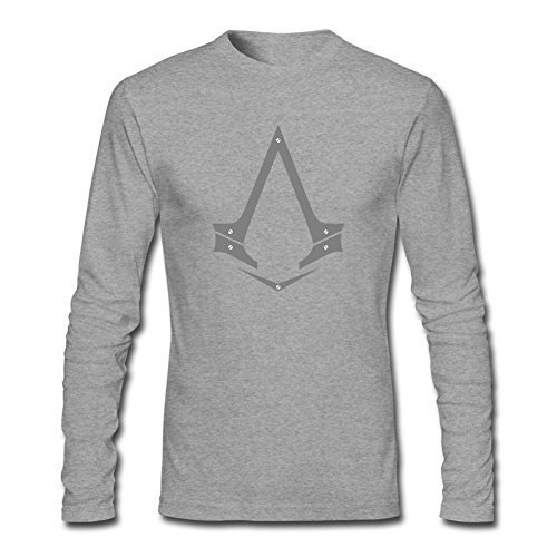 Price comparison product image Libling Men's Assassins Creed Long Sleeve T-Shirt X-Large Grey