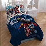 Marvel THE AVENGERS Full Size 4 Piece Sheets Set Cotton Rich Hulk, Thor, Captain America & Iron Man