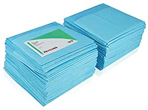 "REMEDIES Underpads Disposable Super Absorbent Bed Protection, Large 30"" X 36"", 85 Gram, 3g SAP 100 Count"