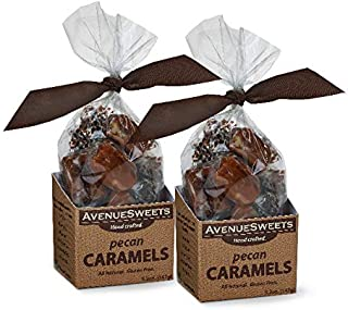 product image for AvenueSweets - Handcrafted Individually Wrapped Soft Caramels - 2 x 5.2 oz Boxes (Pecan)