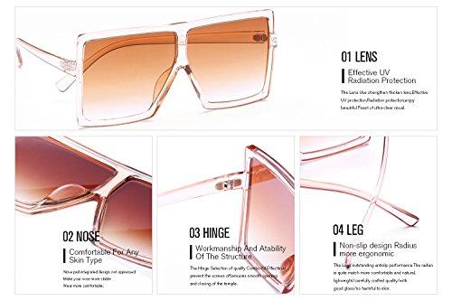 814a180c16 GRFISIA Square Oversized Sunglasses for Women Men Flat Top Fashion Shades