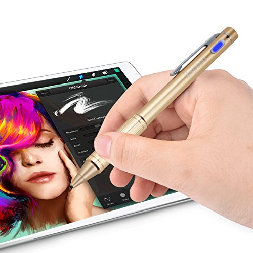 Zspeed Fine Point Stylus, Active Stylus with Pen Clip,Compatiable for Most Touch Screen Device by Zspeed