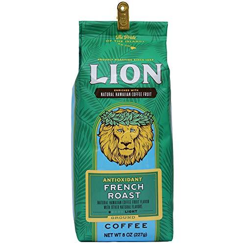 LION Award Winning Antioxidant Rich Coffee, French Roast, Medium Roast, Ground, 8oz