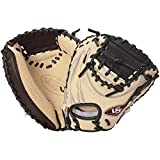 Louisville Slugger Pro Flare Catcher's Mitt, Cream/Black, Right Hand Throw