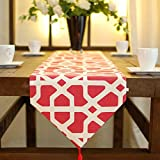 Contemporary style hotel bright table runner home decor boutique , red , cm 33x200 Christmas Halloween Decoration-YU&XIN