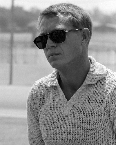 2c6e7d0c21 Steve McQueen in Persol sunglasses and knit top king of cool 8x10 HD  Aluminum Wall Art at Amazon s Entertainment Collectibles Store